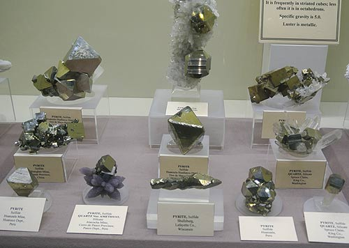 "A common mineral in a plethora of forms - Pyrite also known as ""Fools Gold"""