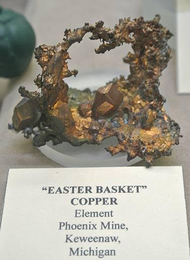 Native Copper from Phoenix Mine, Keweenaw, Michigan