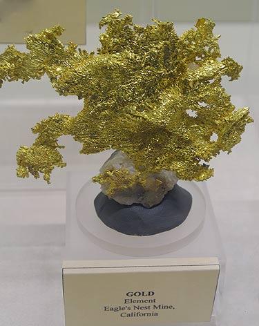 Native Gold specimen from Eagle's Nest Mine, California, USA