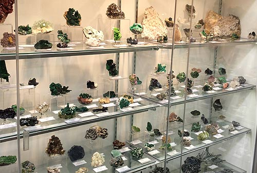 Mineral Specimens on display at the Colorado Mineral and Fossil Show