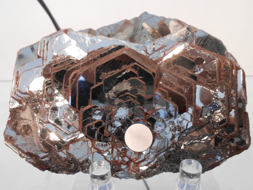 "Large Hematite ""Rosette"" from Coluna Mine, Miguel Burnier District, Ouro Preto, Minas Gerais, Brazil."