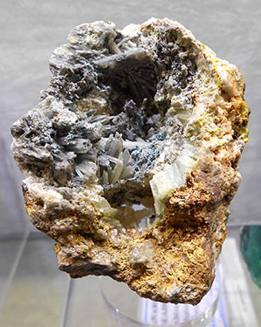 Lanarkite with Leadhillite from the Susanna Mine, Leadhills, Scotland.
