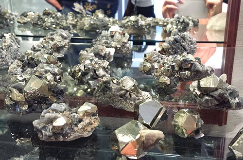 Pyrite crystal groups from the Orienti Mine, Chivor, Guavió-Guatéque Mining District, Boyacá Department, Colombia