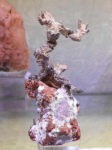 Another Native Silver specimen, this time associated with Native Copper from Houghton County, Michigan, USA.