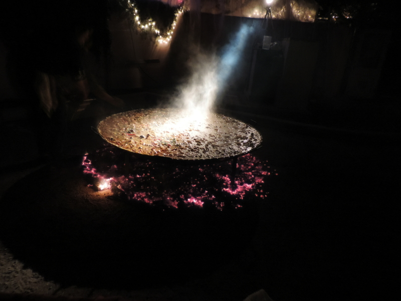 The Paella being cooked