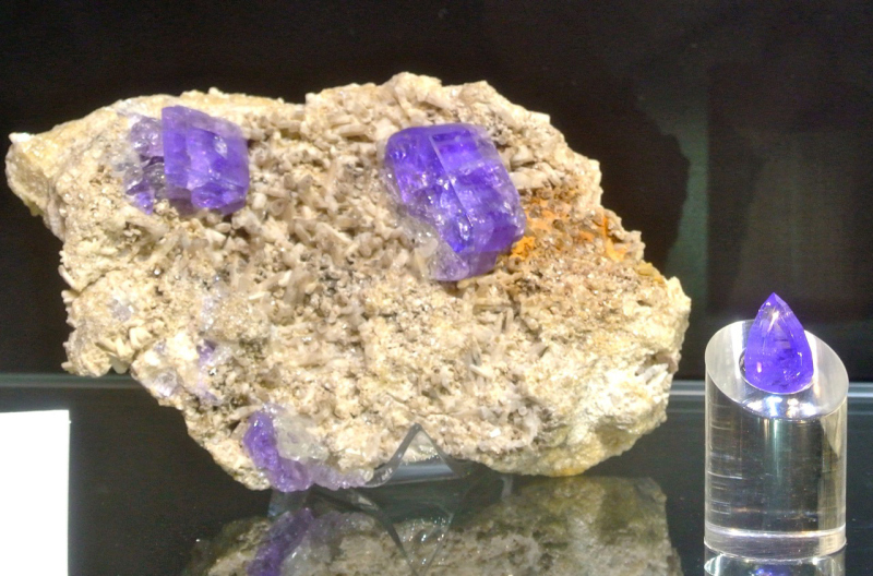 Rough and Cut purple Apatite from ???