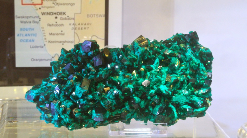 Last new Dioptase from Kaokoveld Plateau, Namibia