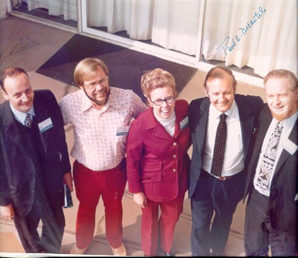 Desert Inn Gathering - L to R: Pierre Bariand, Wayne Leicht, Dona Leicht, Paul Desautels, Peter Embrey