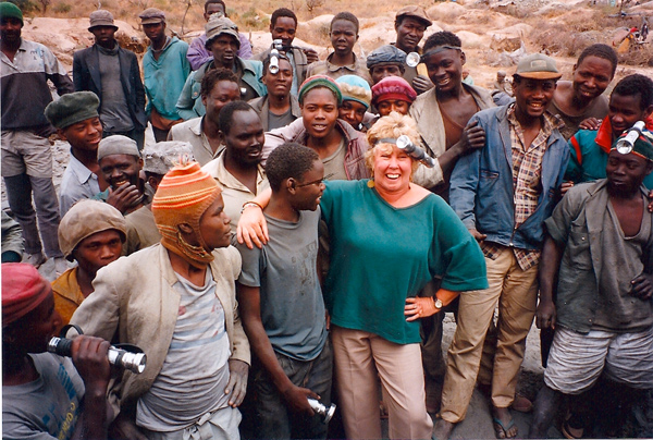 This was in 1993 at the Merelani Tanzanite location – I'm not sure these guys knew what to make of me – Wayne missed this trip!