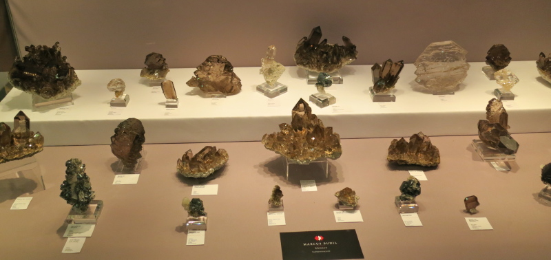 Quartz specimens from Switzerland, plus a few Swiss Hematites