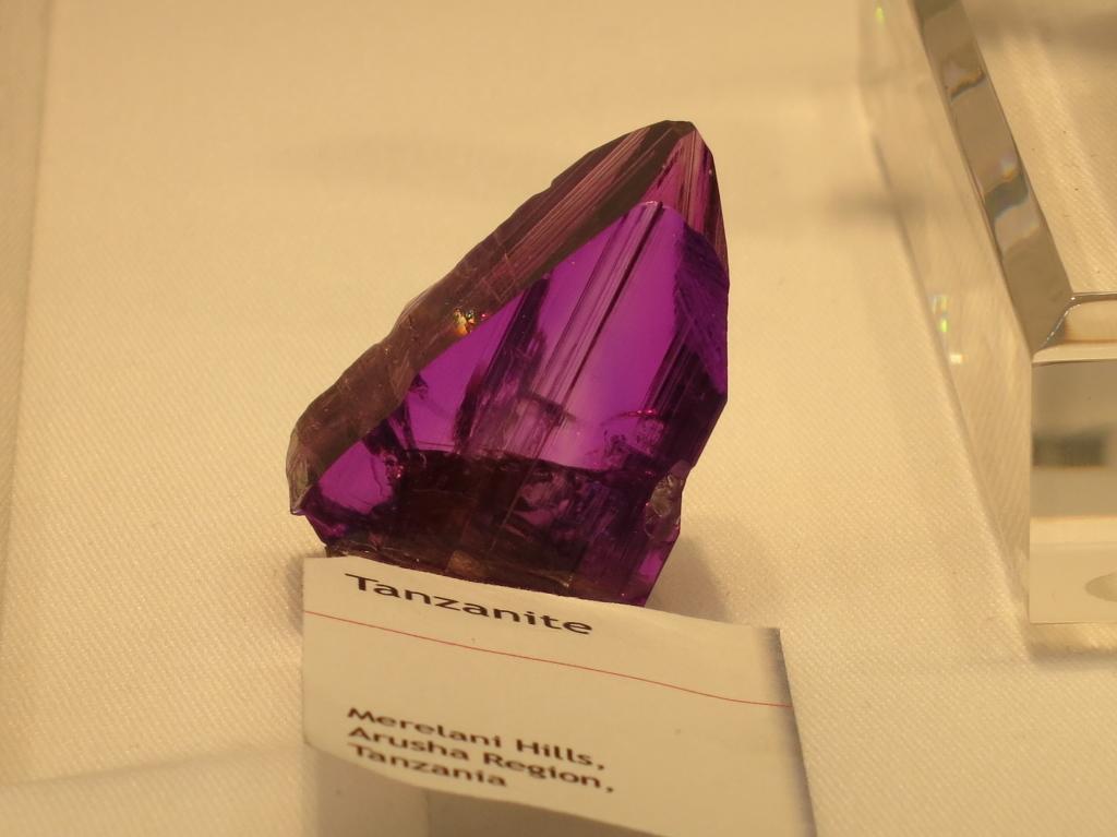 A beautiful violet coloured Tanzanite crystal from Merelani, Tanzania