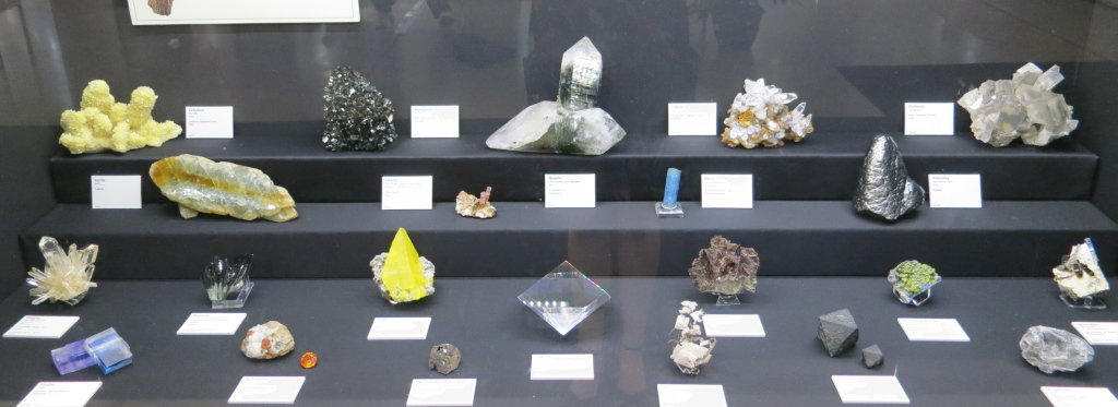 Display by the Mineralogical and Geological  Museum at Harvard University
