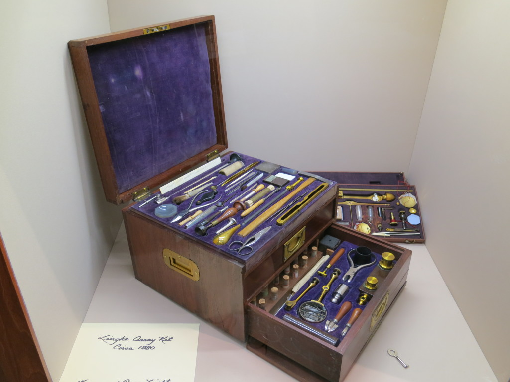 Wayne and Dona had on display this Lingke Assay kit circa 1880