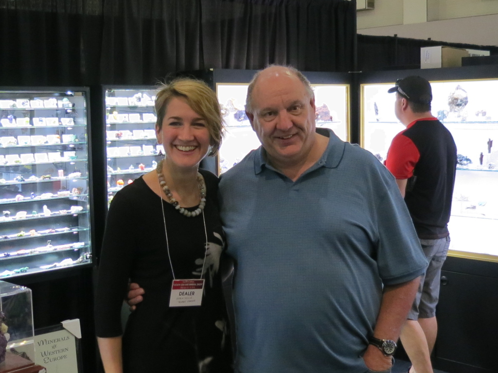 Robin with English collector Rick Turner