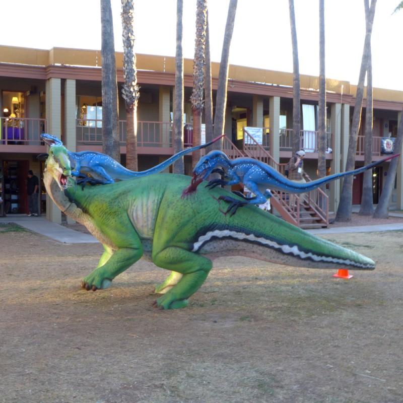 Less friendly dinosaurs
