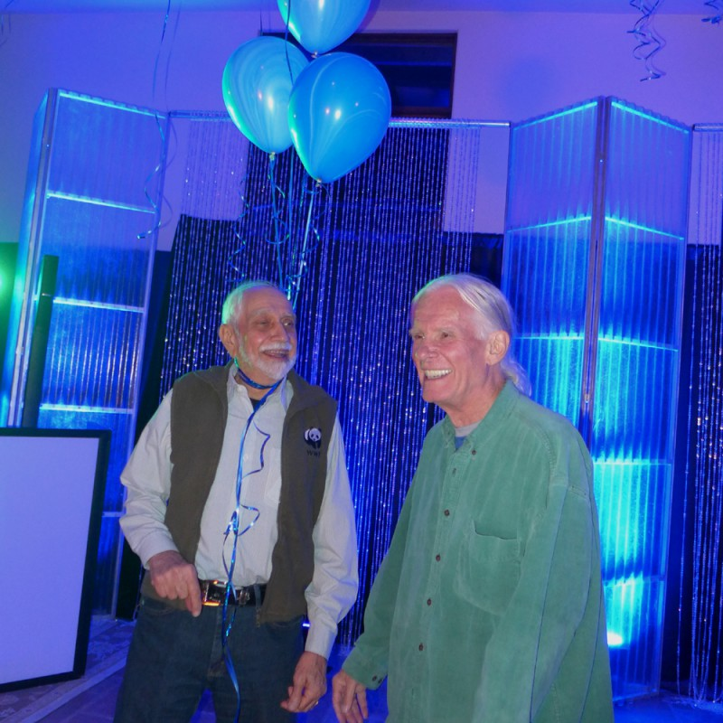 The surprise guest of the evening: Rusty Kothavala!!!! with his wonderful partner Toby. So many at the party had not seen Rusty in over 20 years and he was THE hit of the evening. Thank you Rusty and Toby – you brought more joy to the night.