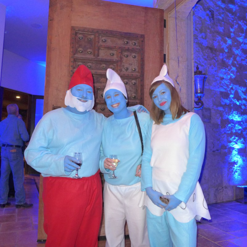I can always count on Tom Prazier and his crew to get into the spirit – only at our parties can you find the Smurf family!