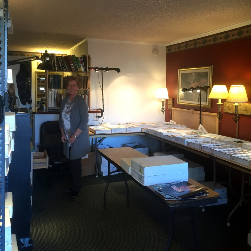 Robbie in the adjoining Kristalle wholesale room