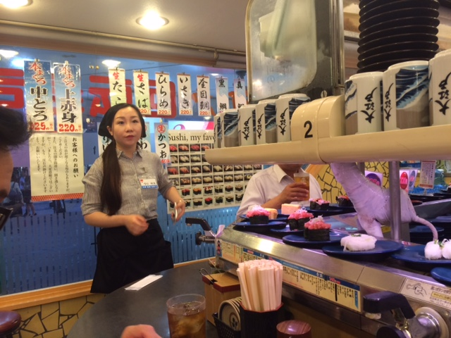 Revolving sushi bars are so much fun!!!