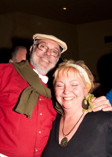 Joaquim Callen and Eloise of Spanish magazine MineralUp (photo courtesy Mark Mauthner)