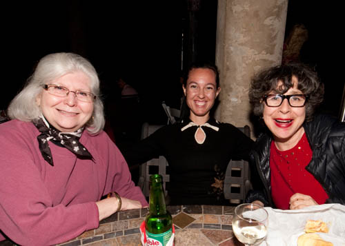 Marie Huizing of Rocks and Minerals, Leila Scovil and Jamie Newman of the American Museum of Natural History (photo courtesy of Mark Mauthner)