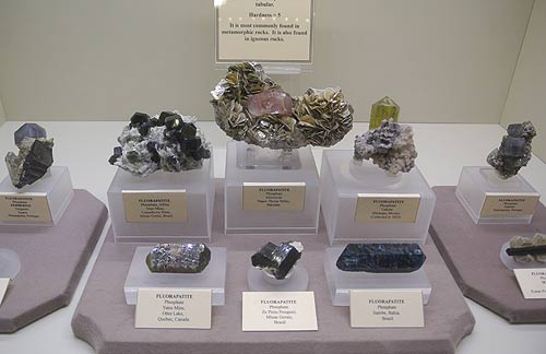 Apatite in a variety of forms