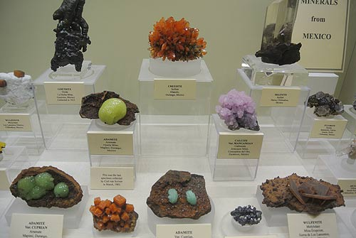 Mineral specimens from Mexico