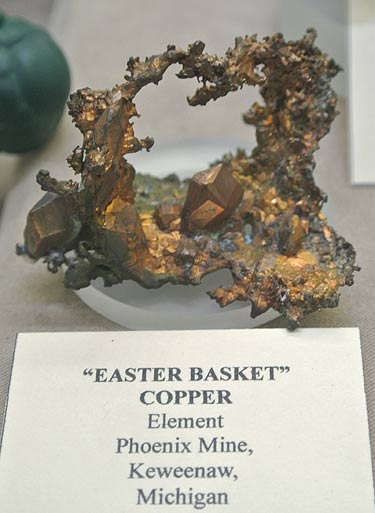 Native Copper from Phoenix Mine, Keweenaw, Michigan
