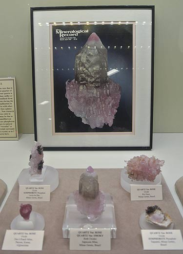 Rose Quartz specimens, some in association with Eosphorite