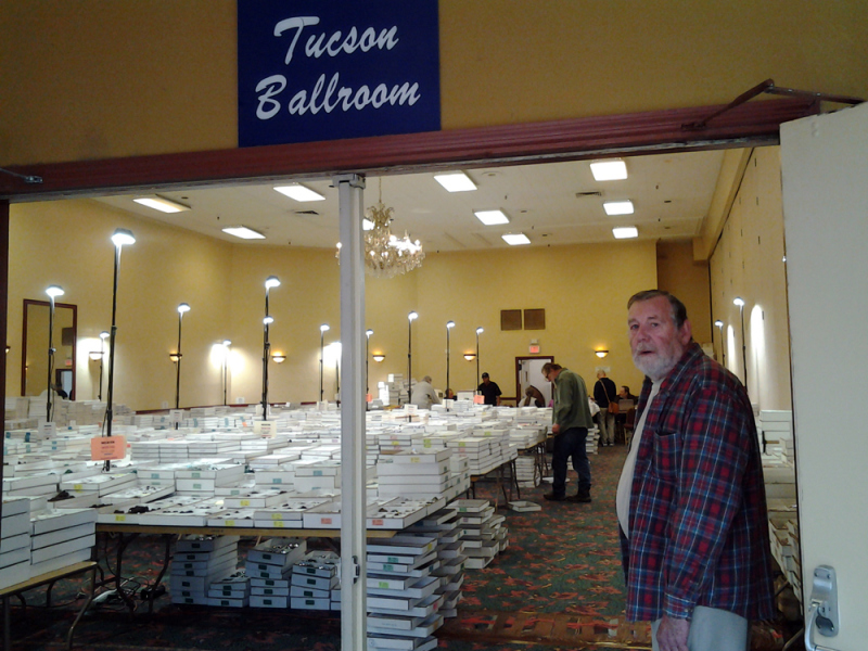 Dave Lloyd outside the Tucson Ballroom which is one of the wholesale areas at the show