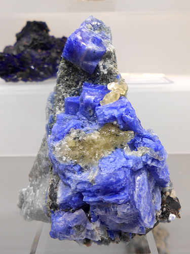 A rare and rich specimen from Mont Saint-Hilaire, Carletonite from the Poudrette Quarry.