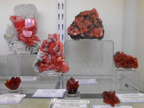A selection of Rhodochrosites from Sweet Home, Colorado and the Kalahari Manganese Fields, South Africa.