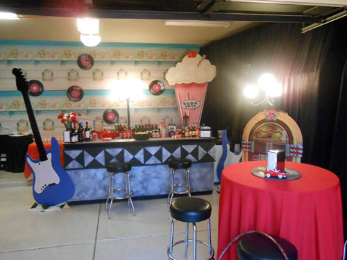 The Soda Bar - serving classic sodas, adult milkshakes (yum!) and of course beer and wine.