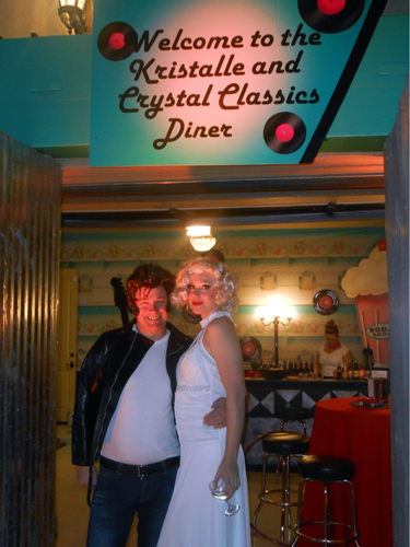 Ian Bruce and Diana Schlegel aka Marilyn Monroe welcome the guests
