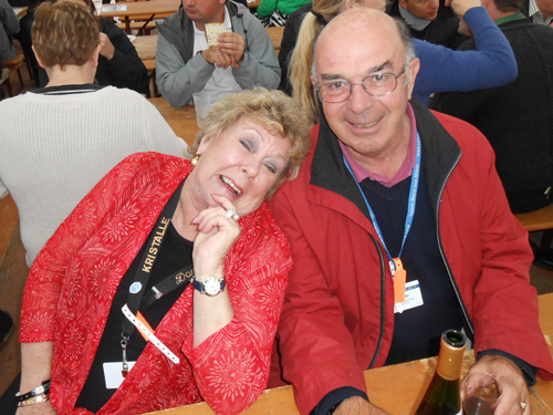 Dona Leicht with Dave Hacker enjoying the celebrations.
