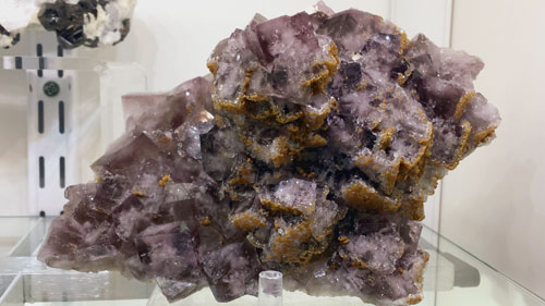 Fluorite with Siderite from Allenheads Mine (Beaumont Mine), East Allendale, Northumberland, England, UK.