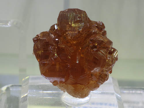 A lovely Hessonite Garnet from Jeffrey Mine, Canada approx 3cm wide