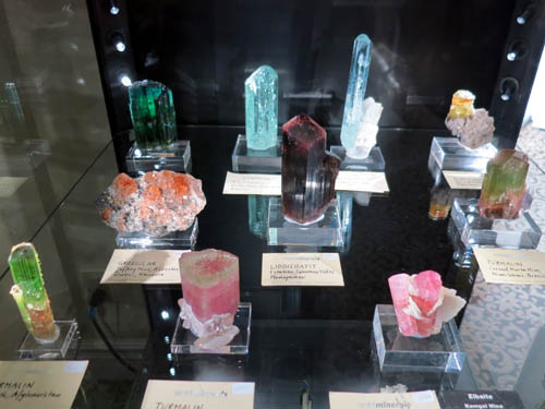 More lovely gem crystals of Tourmalines, Aquamarines and Garnet