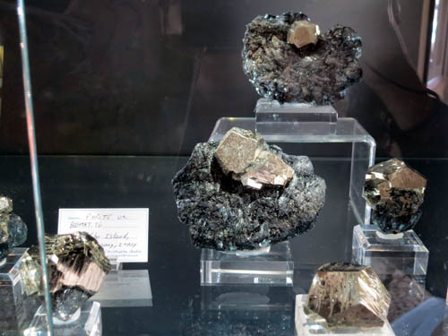 A closer view of the Pyrites and Hematite from Elba Island, Italy
