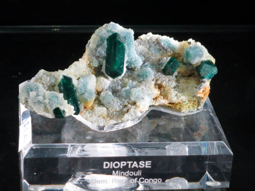 DIoptase from Mindouli, Demographic Republic of the Congo