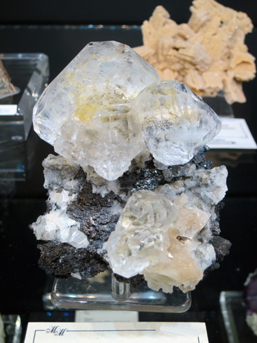 Modified octahedral crystals of colourless Fluorite from Huanggang, Inner Mongolia, China