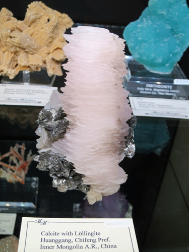 Calcite with Lollingite from Huanggang, Inner Mongolia, China