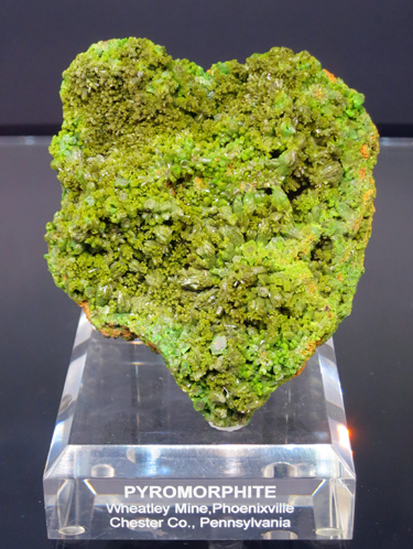 Pyromorphite from Wheatley Mine, Pennsylvania