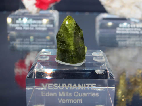 An exceptional Vesuvianite from Eden Mills Quarries, Vermont - reminiscent of the crystalsfrom Jeffrey Mine, Canada