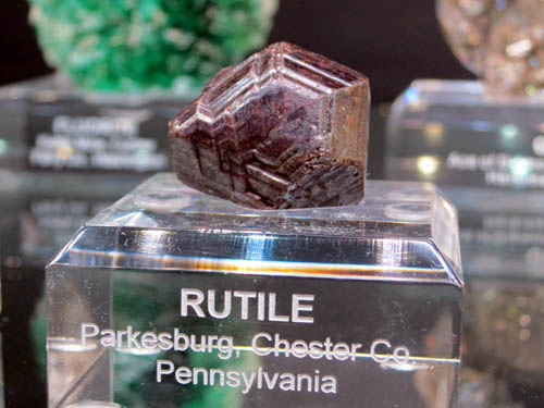 One of Kevin's favourite Rutiles - a sixling twin crystal from Parkesburg, Pennsylvania