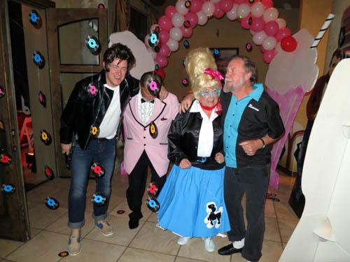 Getting down on the dance floor - Ian, Kirby, Dona and Wayne