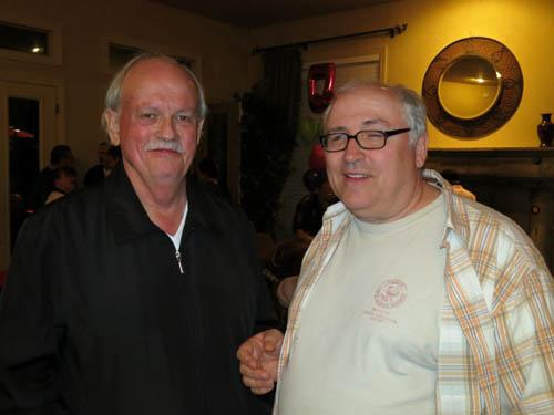 Paul Melville with German dealer Armin Schoeler of eShop-minerals