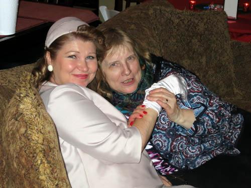 Olga with Ludmilla Cheshko of Russian magazine Mineralogical Almanac