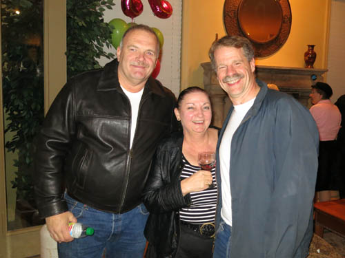 One of our favourite now-ex-Tucson police Jim Stoutmeyer, with Paul Melville's partner Tricia and smiley mineral dealer John Cornish