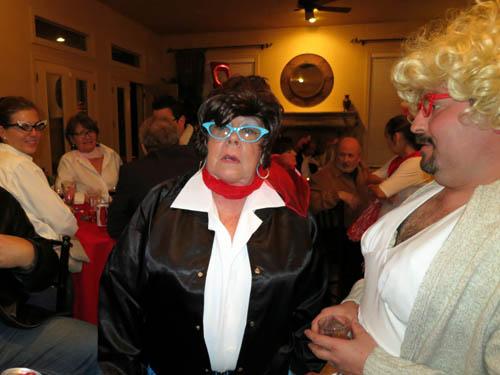 Dona in the Danny/John Travolta wig